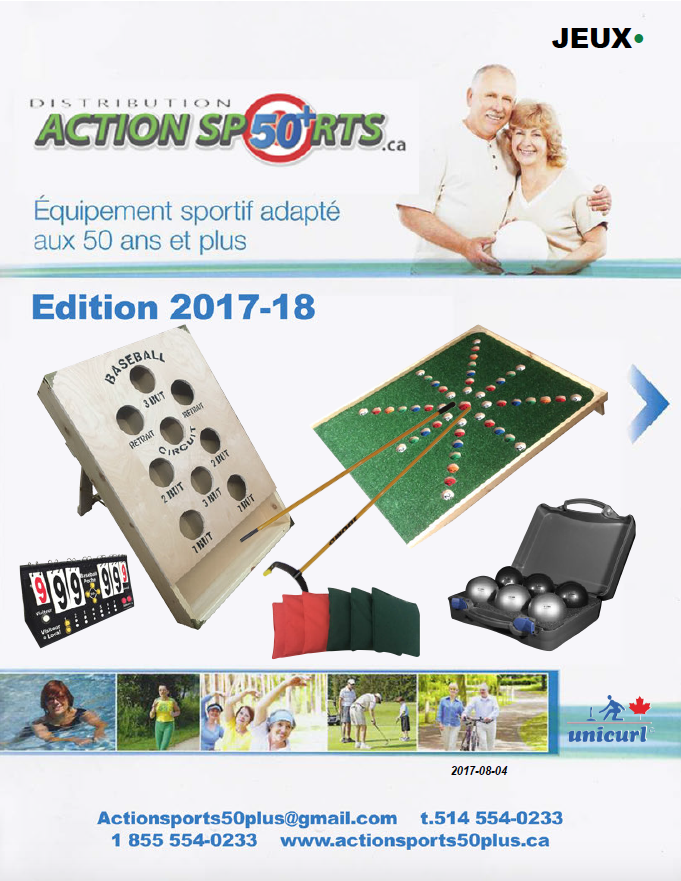 Catalogue de Jeux Action Sports 50 plus