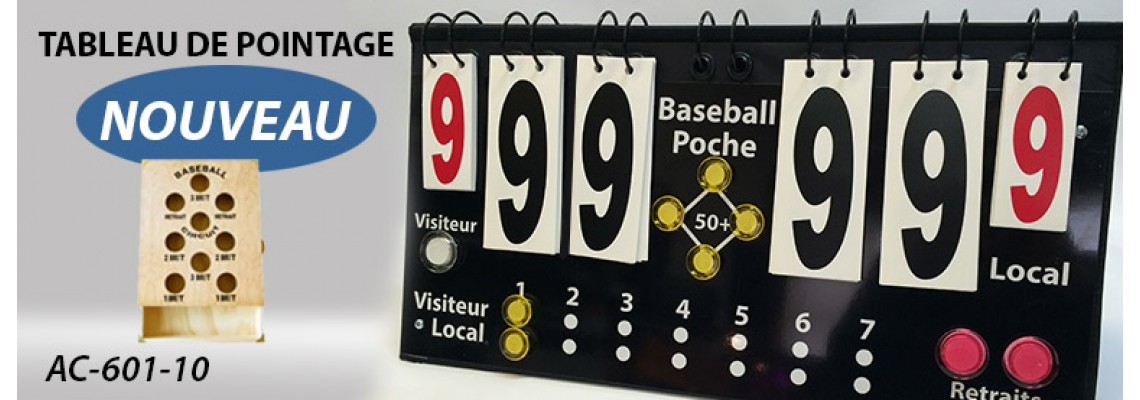 Tableau de pointage «Baseball Poche»